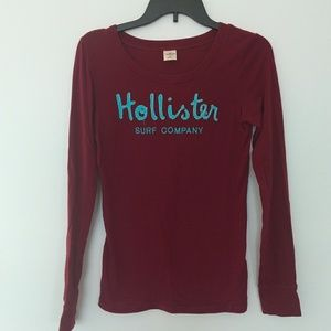 Maroon Hollister Shirt